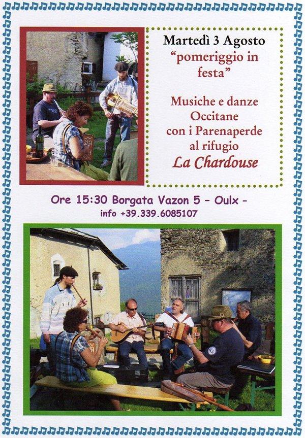 Musiche e danze occitane al Rifugio Alpino La Chardouse