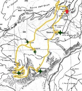mappa sentiero
