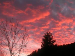 tramonto a vazon visto dal rifugio la chardouse cotolivier