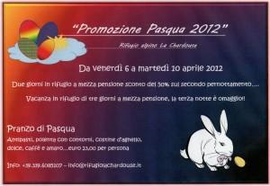 promozione pasqua e pasquetta 2012 rifugio la chardouse