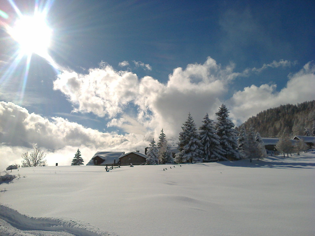 Arrivo a Vazon con le ciapole dopo la nevicata di Natale (Oulx)